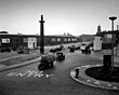 Birkenhead Tunnel entrance behind the Market, 1950