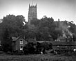 Church and cottages, Cheshire?, 1920s