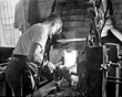 Forge work at Cammell Lairds, 1956