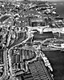 Aerial view of Cammell Lairds and Woodside, Birkenhead, 1962