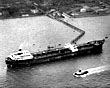 'Esso Pembrokeshire' at Eastham Oil Terminal, from the air, 1962