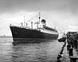 'Saxonia' approaching the Landing Stage, Liverpool, 1954