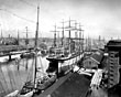 Salthouse Dock, Liverpool, with sailing ships, 1897
