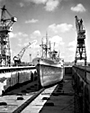 'Gladstone Star' in dry dock, Cammell Lairds, 1962